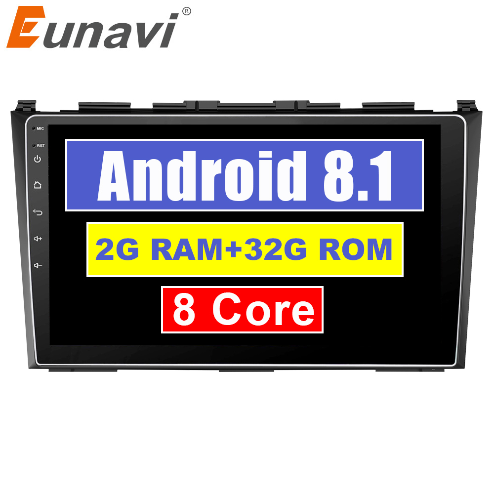 Eunavi Android 8.1 8 cores car gps multimedia player For Honda CRV CR-V 3 2007-2011 car dvd navigation raido video audio player