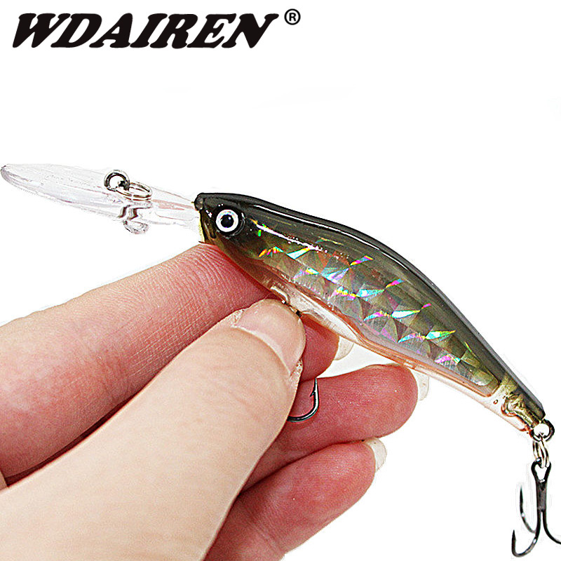 1PCS Laser Sinking Slowly Minnow Fishing Lure 8.5CM 6.5G Wobbler Artificial Fly Fishing Hard Bait Carp Crankbait Fishing WD-215 5sheets pack 10cm x 5cm holographic adhesive film fly tying laser rainbow materials sticker film flash tape for fly lure fishing