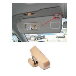 Beige Auto Zonnescherm Visor Inner Bevestigingsbeugel Clip Hanger Clip Houder voor VW Bora Passat B5 POLO Golf 4 Auto accessoires(China)