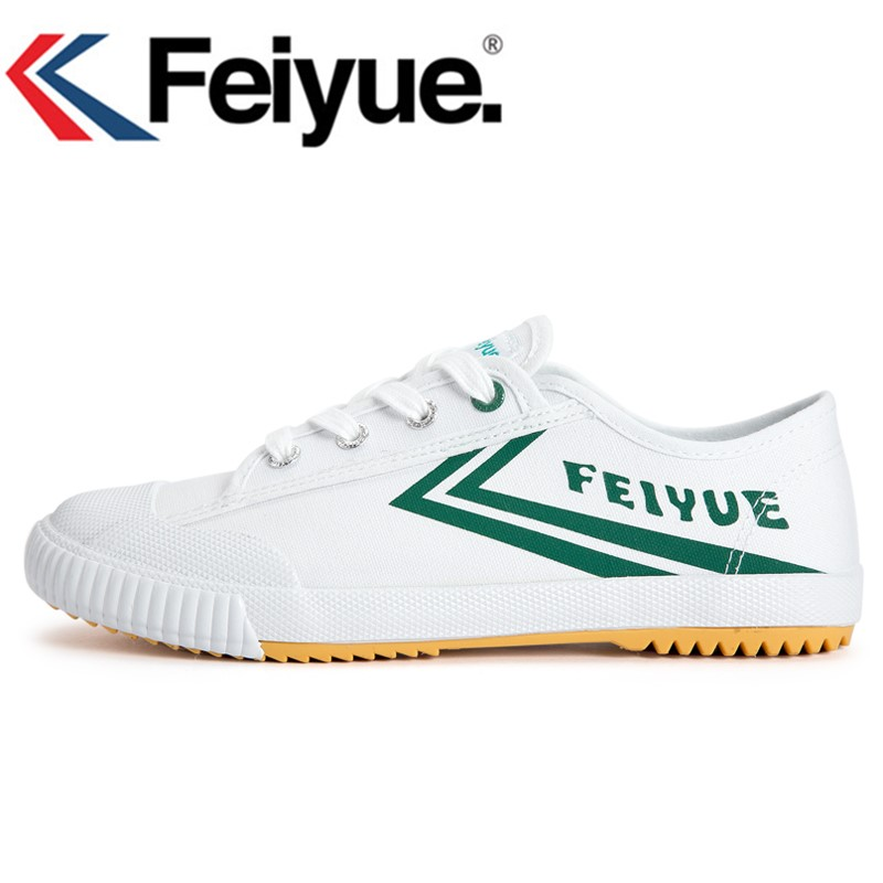 French Original Sneakers Feiyue Shoes Martial Arts Tai Chi Taekwondo Wushu Classic Arts Shoes KungFu Green Shoes