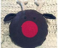 Crochet Turkey Pillow for baby use decorate home