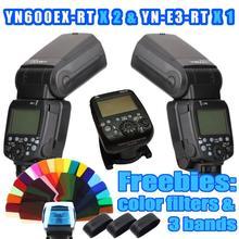 2 unids YONGNUO YN600EX-RT YN600EX YN Flash Speedlite + YN-E3-RT E3 Controlador RT para Canon 5D3 5D2 7D 6D 5D 50D 60D 70D 600D 450D