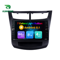 Octa Core ROM 64GB Android 8.1 Car DVD GPS Navigation Player Deckless Car Stereo For Chevrolet SAIL 2015 Radio Headunit Device