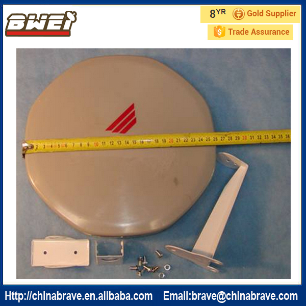US $35 0 |high quality ku band flat satellite dish antenna high quality  parabolic the antenna-in Satellite TV Receiver from Consumer Electronics on