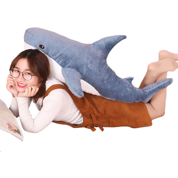 80/100/138cm Big Size Funny Soft Bite Shark Plush Toy Pillow Appease Cushion Gift for Children NTDIZ1008 1