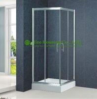 Shower Room Aluminum Frame Square Sliding Shower Cabin Interior Glass Doors Premium Instrument Shower Leak Free