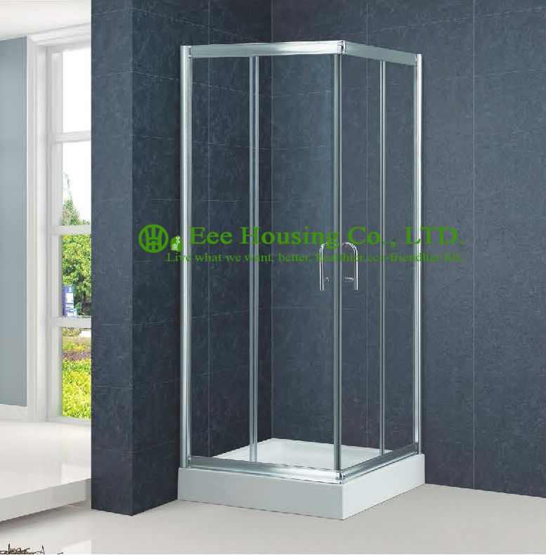 marco cuadrado de aluminio aseo cabina de ducha corredera interior puertas de cristal puertas correderas
