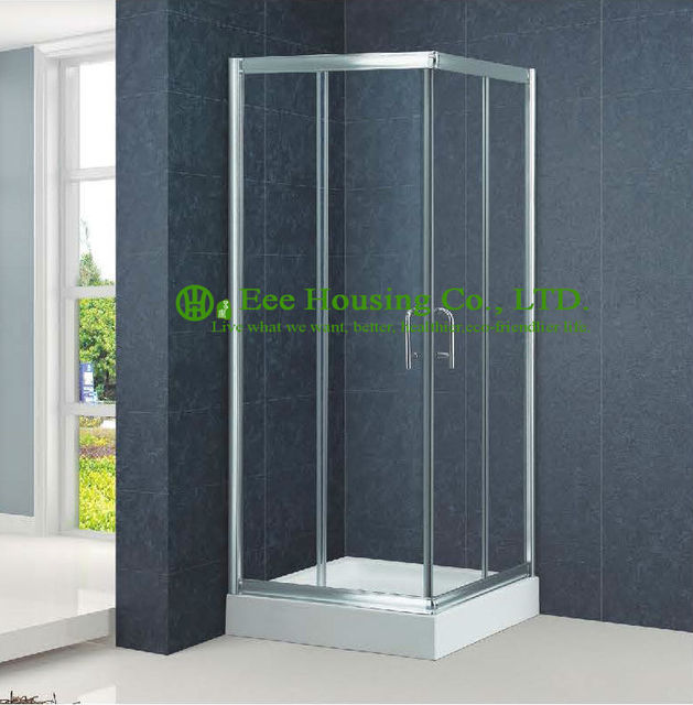 Shower Room Aluminum Frame Square Sliding Shower Cabin Interior Glass  Doors,Premium Instrument Shower Leak