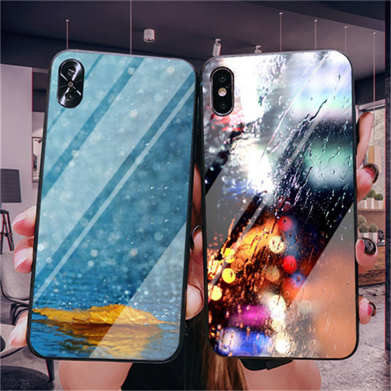 Glass Raindrops Mobile