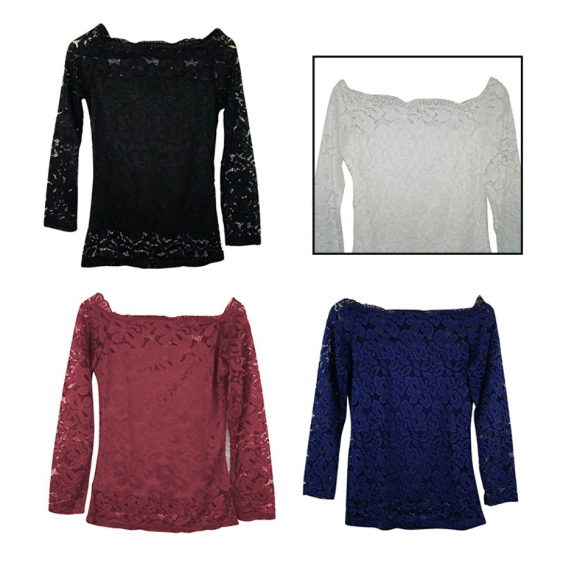 Sexy Lace White Blouse Casual Women Long Sleeve Off The Shoulder Tops Femme Embroidery blusas mujer de moda 2017