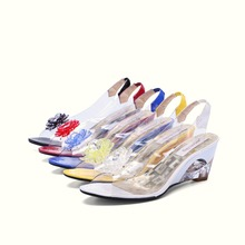 SGESVIER Women Sandals Rome Stylish High Quality Fashion Wedge Heel Sandals Dress Casual Shoes Lady's Sandals Big Size 43 OX009