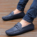 New Comfortable Genuine Leather Male Flats Shoes Trend Men Breathable Cow Leather Pedal Male Loafers Size 28-66