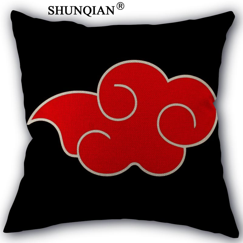 New Hot Naruto Logo  Pillowcase Custom One Side Pillow Cases Cotton Linen 18X18Inch Pillowcase