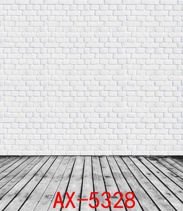 White Brick Wall and Wooden Floor Vinyl Backdrop Wedding Indoor 5X7ft Lighting Photo Studio Background pink wall fantasy bubble wedding photograph studio decor backdrop 5x7ft indoor props family vinyl photo shots background