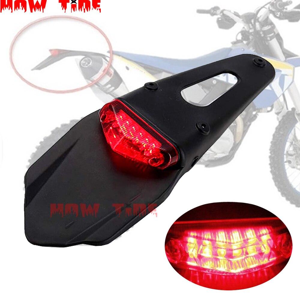 Adequado para ktm cr exc wrf 250 400 426 450 polisport motocicleta led luzes traseiras e pára-choques traseiros parar enduro mx trail
