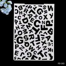 Alphabet Plastic Embossing Folder for Scrapbook DIY Album Card Tool Template 10.5x14.5cm