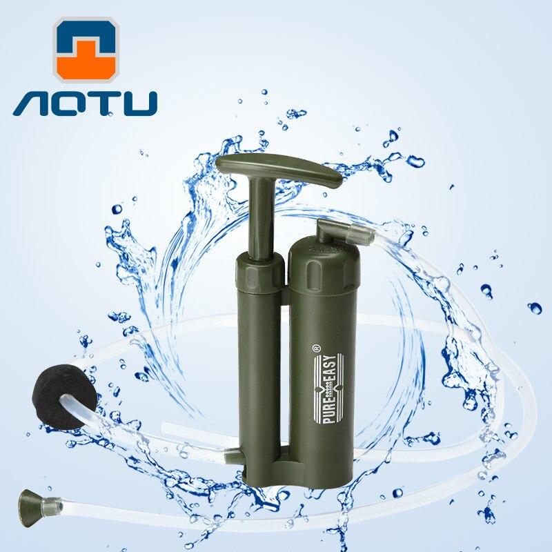 AOTU высокое качество Портативный Пластик 0.1 микро Солдат фильтр для воды очиститель открытый Пеший Туризм Отдых Выживание аварийного 483