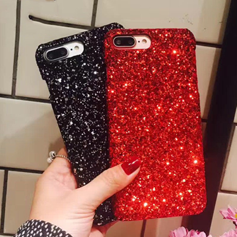 Glitter <font><b>Case</b></font> For <font><b>Vivo</b></font> V11i Y81 Y81i Y81S <font><b>Y83</b></font> Y71 Y71i Y85 Y51 Y53 2017 Y55 Y79 Y75 Y66 Y67 V9 V7 Plus Cover Hard PC Bumper Shell image