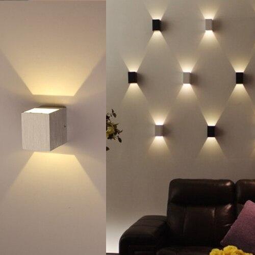 Estilo moderno 3 W Led de baños baño dormitorio lampara de pared ...