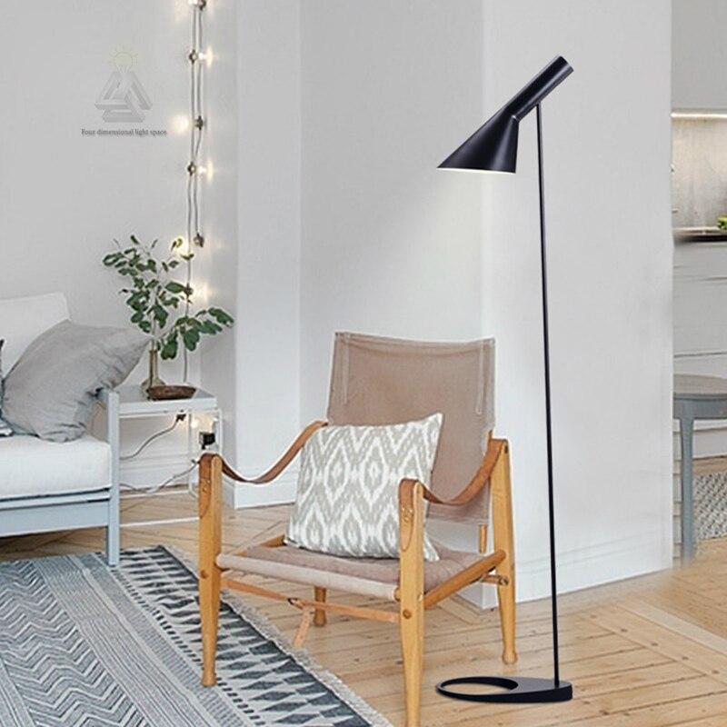 Post modern Design AJ Floor Lamp Black/White Metal Stand ...