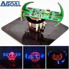 DIY Biaxial Spherical Rotating LED Kit Creative POV Soldering Training Kit