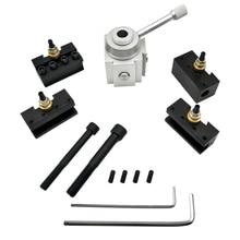 цена на Holder Post Cutter Screw Kit CNC Quick Change Lathe Tool Boring Bar Turning Facing Holder Wrench lathe turning tool accessories