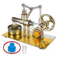 Einzylinder Balance Stirling Motor Modell Wissenschaft Experiment Kit Mit Alle-Metall Basis Pädagogisches Spielzeug Geschenk Für Kinder Erwachsene