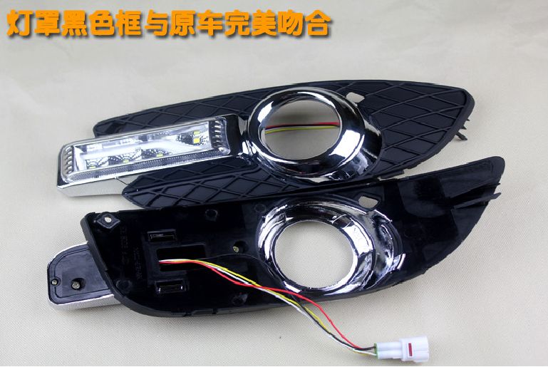 Mitsubish Lancer EX daytime light;2008~2016, Free ship!LED,Lancer fog light,Outlander,ASX,Lancer EX