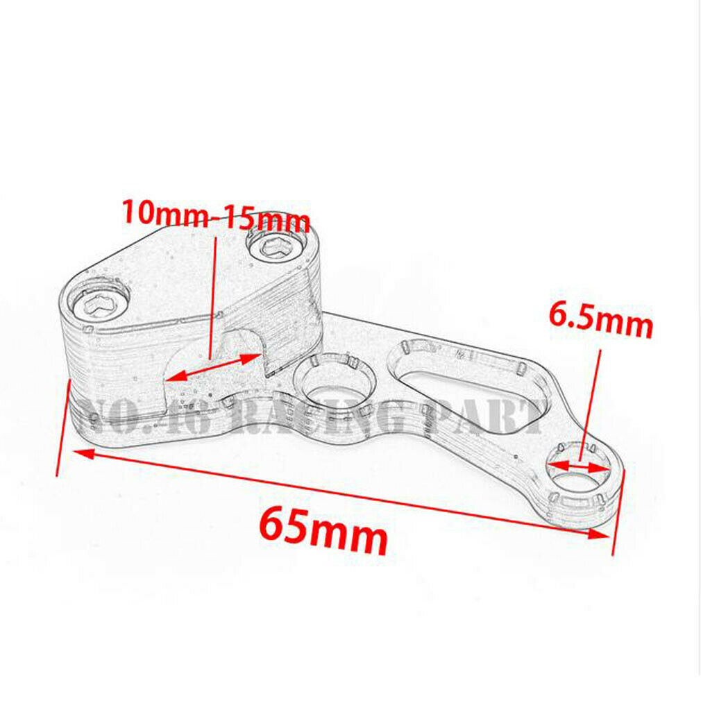 CNC Motorcycle Brake Line Clamps Wire Clip Holder For Yamaha R1 R6 Suzuki GSXR