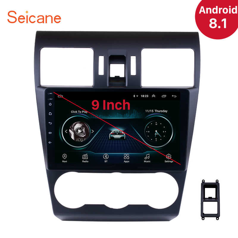 "Seicane 9"" Quad-core Android 8.1 Car Stereo GPS Multimedia Player For 2015 Subaru Forester support SWC Steering Wheel Control"