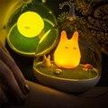 Mais novo Projeto Noite Lâmpada Totoro Bonito Portátil Sensor de Toque USB Luzes LED Lâmpadas de Iluminação Da Lâmpada Para Quarto Do Bebê Do Sono Da Arte decoração