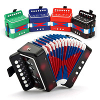 Iniciantes música de acordeão acordeão brinquedo iniciação infantil, adereços desempenho mini instrumento acordeão, presente de aniversário