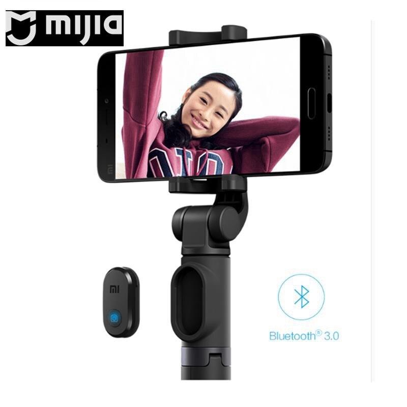 360 Degree Rotation Bluetooth Selfie for Stick/Tripod for Xiaomi Mijia Mini Sports Camera / Smartphone Grey / Black for RC Model mking adyss a6 bluetooth 3 0 selfie stick camera shutter