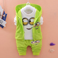 Conjuntos de roupas crianças terno do bebê meninas roupas crianças roupas dos desenhos animados Asseclas bebê Recém-nascido meninas/meninos roupas roupa dos miúdos