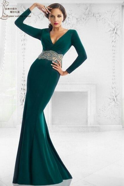 Long sleeve prom dresses 2016 PM1369 elegant long mermaid prom dress ...