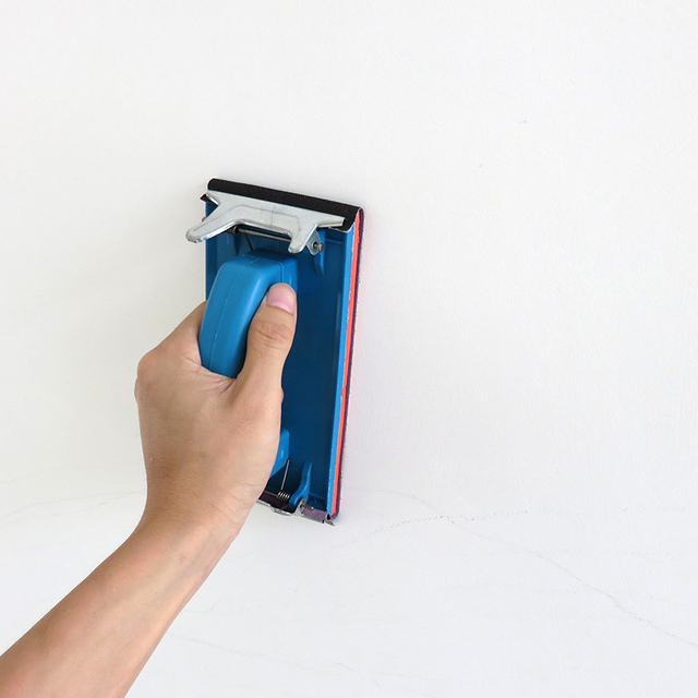 85x185mm Handheld Sandpaper Frame Hand Grip Sandpaper Frame Holder for Abrasive Tools --M25