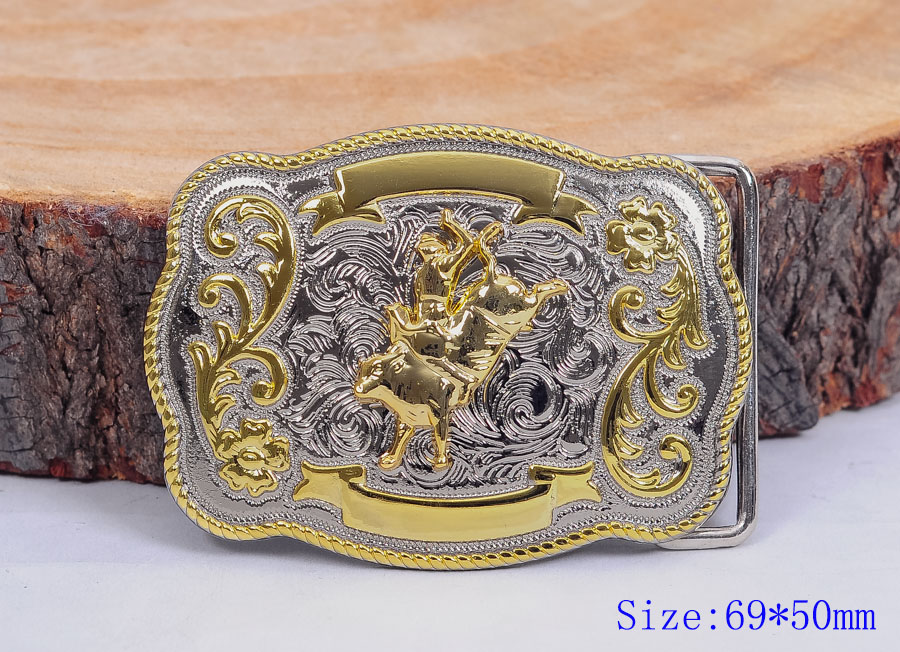 Mens Bull Ride Rodeo Flower Long Huge Rodeo Big Western Cowboy Shine Belt Buckle