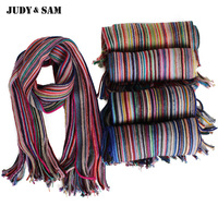 Super Rainbow 100 Merino Wool Scarf For Boys And Girls Lovely Colorful Winter Scarf