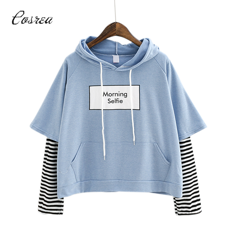 Exo Clothes Hoodie Sweatshirt Fashion Striped Sleeve Patchwork Hoodies Cotton Spring Exo Hat Womens Hoodies Pullover Knitted