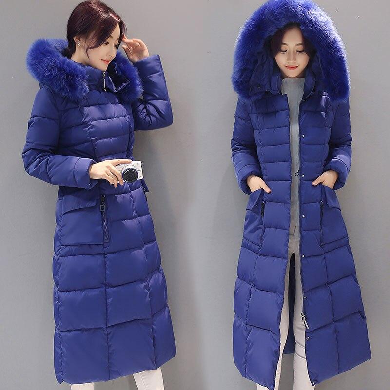 blue Taille Épaississement Long Chaud Black red Plus Col Fourrure Femmes 2018 Amovible La Vêtements Veste De Cap green Manteau 5xl Hiver Parkas Coton Mince Nn0wv8m