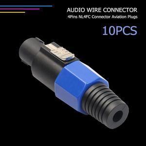 Image 4 - 10 pièces 4 pôles NL4FC 4Pin connecteur prise haut parleur Audio Ohm prise femelle prise livraison directe du fournisseur