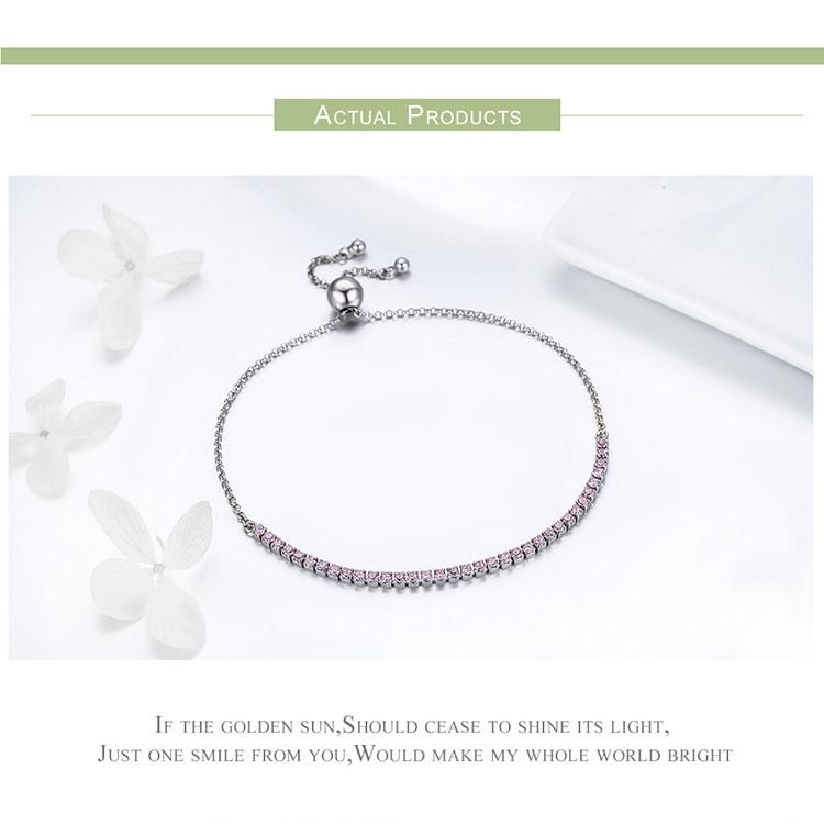 HTB1kdXsmnTI8KJjSsphq6AFppXaD BAMOER Featured Brand DEALS 925 Sterling Silver Sparkling Strand Bracelet Women Link Tennis Bracelet Silver Jewelry SCB029