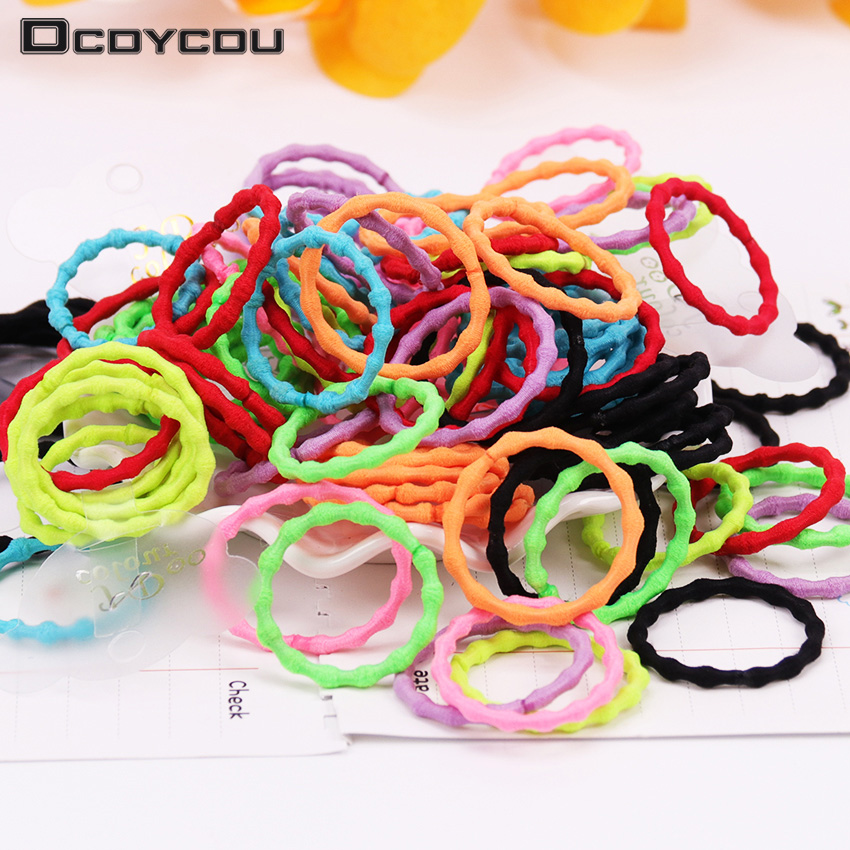 6PCS/Set Colorful Elastic Hair Bands Kids   Headwear   Scrunchy Rubber Rope for Girl Women Tie Gum Hair Accessories