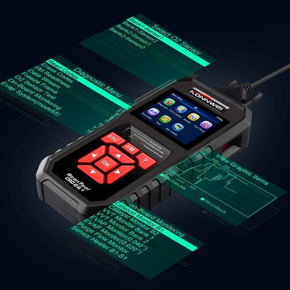 HTB1kdYAOmzqK1RjSZFpq6ykSXXaL KONNWEI KW850 OBD2 Auto Diagnostic Scanner Universal OBD Car Diagnostic Tool ODB2 Check Engine Automotive Car Code Reader Black