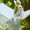 Original Design Pure Cotton Vintage Sweet Lace Princess Long Dresses 2017 Summer New Short Sleeve Elegant
