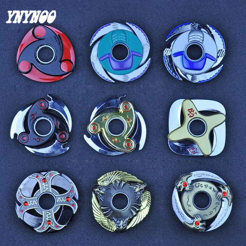 YNYNOO One Piece Naruto Shuriken Turn darts Fidgets Cubes font b Spinner b font Hand Toys