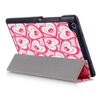 New Fantasy Heart Pattern Smart Cover For Lenovo Tab 3 8 Inch Case Flip PU Leather
