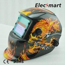 Black Skull Auto darkening welding cap TIG MIG MMA electric welding mask/helmet/welder cap/lens for welding machine