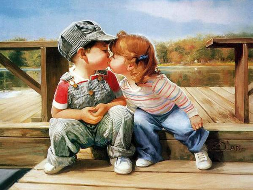 Прикольные картинки про дружбу и любовь, смешные девочки