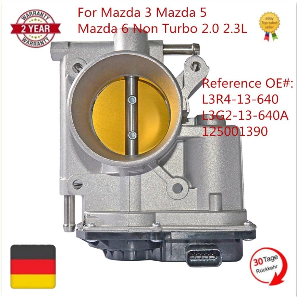 125001390 L3R413640 L3G213640A Throttle Body For Mazda 3 Mazda 5 Mazda 6 Non Turbo 2.0 2.3 2006-2013 наклейки len ys 04 mazda mazda 3 mazda 6 m5